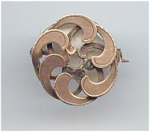 Rolled Gold Victorian Swirl Pin