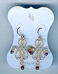 Gold Over Sterling Garnet Bead Pierced Earrings