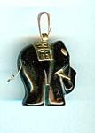 Black Onyx Elephant Pendant