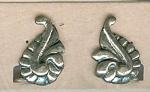 Sterling Fancy Screwback Earrings
