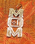 Sterling Silver Number 1 Mom Pendant