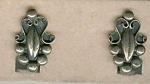 Fancy Silver Screwback Earrings
