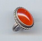 Mexican Silver And Carnelian Ring
