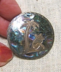 Sterling And Abalone Mexican Siesta Brooch
