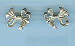 Sterling Vikingcraft Bow Design Pierced Earrings