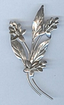 Coro Sterling Stem Of Blossoms Brooch