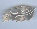 Sterling Mexican Leaf Brooch