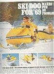 1969 Ski-doo Snowmobile Ad Sheet