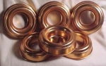 6/ 3 Oz Coppercolored Aluminum Molds