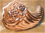 Bold Copper Colored Aluminum Cornucopia Mold