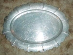 Huge Orchid Pattern Aluminum Tray