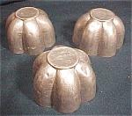 3 Tiny Fluted Aluminum Jello Molds