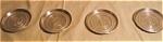 Set Of 4 Aluminum Initial Coasters