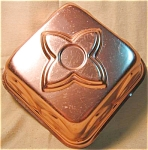 Four Sided Gothic Look Copper Colored Jello Mold