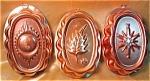 Set Of 3 Copper Colored Aluminum Seasonal Molds