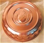 Round Copper Colored Aluminum Pineapple Mold