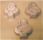 3 Vintage Small Aluminum Club / Clover Jello Molds