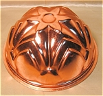 4 Cup Flower Topped Copper Colored Aluminum Mold