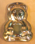 Chromed Tin Teddy Bear Cake Pan Or Jello Mold