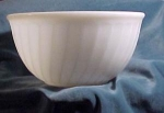 Old White Fluted Fire King Mixing Bowl