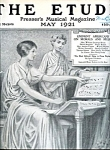 1921 Issue The Etude Presser's Musical Magazine