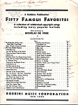 1894 Fifty Famous Favorites Piano Music Book