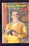 1959 Seventh Day Adventist Baptism Manual