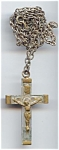 Clear Acrylic And Brass Crucifix