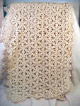 60 Inch Long Dresser Or Mantle Scarf - Hand Crocheted