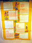 Vintage Bahamian Recipes Printed Linen Kitchen Towel