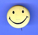 Old Metal Yellow Happy Face Button