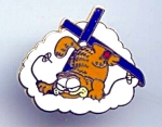 1978 Enameled Garfield Ski Pin