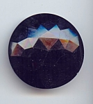 Large Faceted Black Glass Button