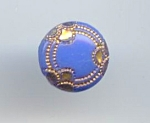 Small Periwinkle Blue Vintage Glass Button