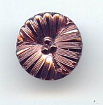Copper Lustered Black Glass Flower Button