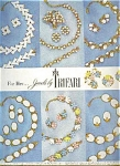 1956 Trifari Jewels Ad Sheet