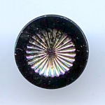 Silver Lustered Black Glass Button