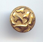 Gold Lustered Black Glass Button