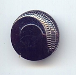 Art Deco Black And Silver Glass Button