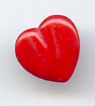 Newer Red Glass Heart Button