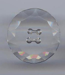 Big Clear Faceted Glass Button