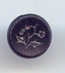 Black Jet Glass Mourning Button
