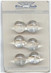 Set Of 6 Big Round Clear Glass Buttons
