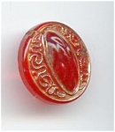Czech Red Glass Button