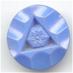 Big Periwinkle Blue Molded Glass Button