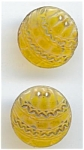 Two Amber Glass Buttons