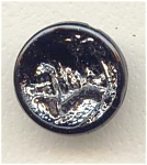 Silver Lustered Scenic Button