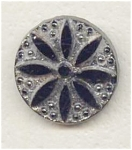 Black Glass Silver Lustered Button