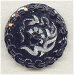 Almost Oriental Design Lustered Glass Button