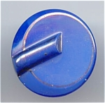 Art Deco Design Blue Glass Button